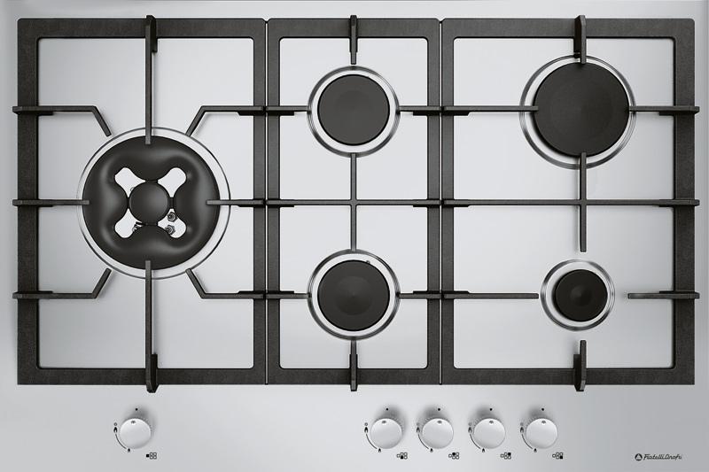 gas kochfeld edelstahl 5 zonen gaskochfeld wok gasherd ebay. Black Bedroom Furniture Sets. Home Design Ideas