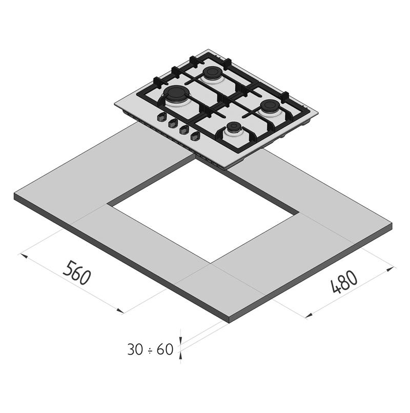 kopffreie dunstabzugshauben 60 cm angebote auf waterige. Black Bedroom Furniture Sets. Home Design Ideas