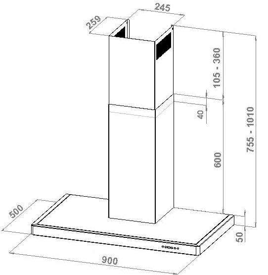 elegant flach 90 cm. Black Bedroom Furniture Sets. Home Design Ideas